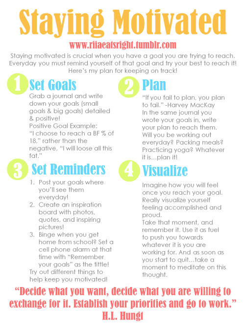 riiaeatsright:  Trying to stick to your goals? Here's some tips! :)
