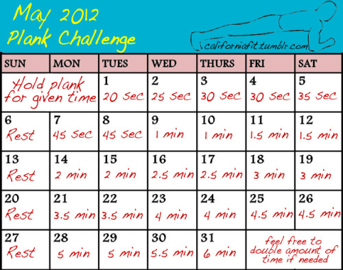 californiafit:  new month means new plank challenge!  May is right around the corner! Are you folks ready?