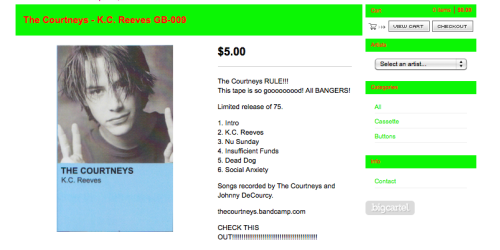 The Courtneys tape AVAILABLE NOW online and in local record shops! Check it out! HERE  Ps. That was a CHILLING night.