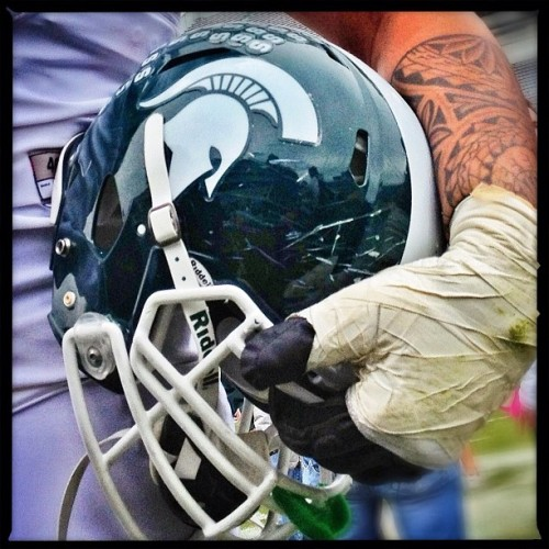 Spartan #football #msu #iphone #procamera #snapseed #pixlromatic #biglens #spartanstadium (Taken with instagram)