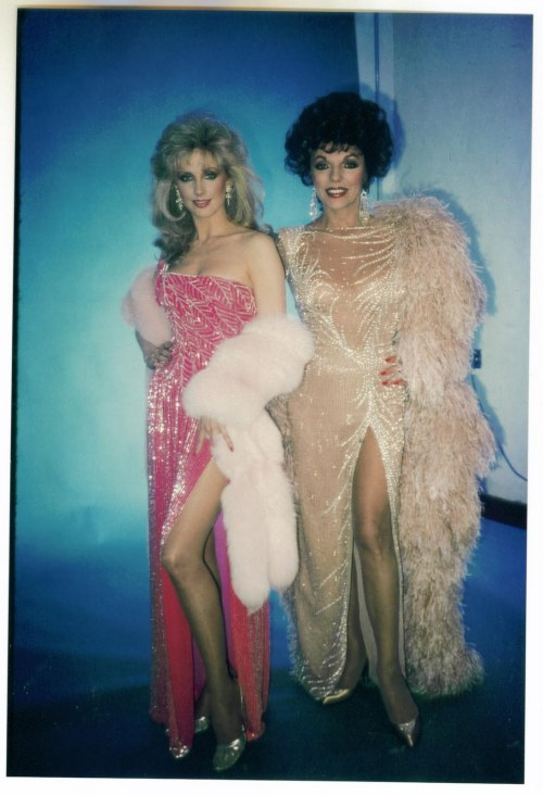 Joan Collins and Morgan Fairchild
