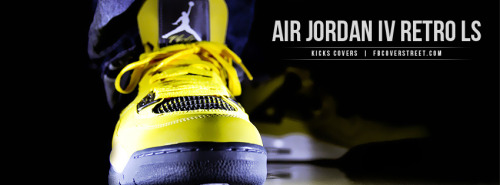 Air Jordan IV Retro LS Facebook Cover