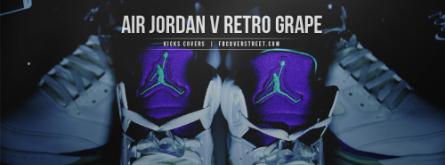 Air Jordan V Retro Grape Facebook Cover
