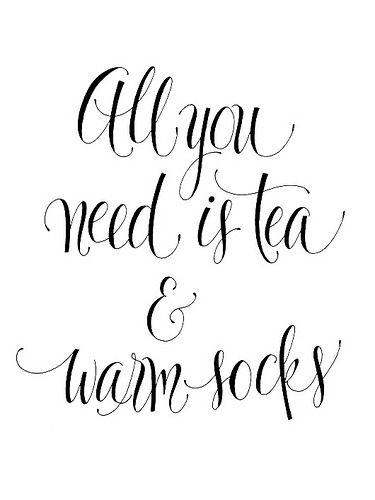 glazedtwist:  Tea & Warm Socks (by Ornamelle)  i wish that was all you needed. :/