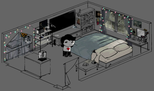 oh my god i found old homestucks of mine here is my room and me except homestuck and for some reason i'm wearing mysterious rivet pants???