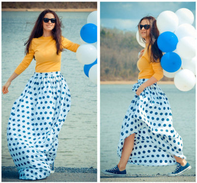 polka dots…very big for spring.