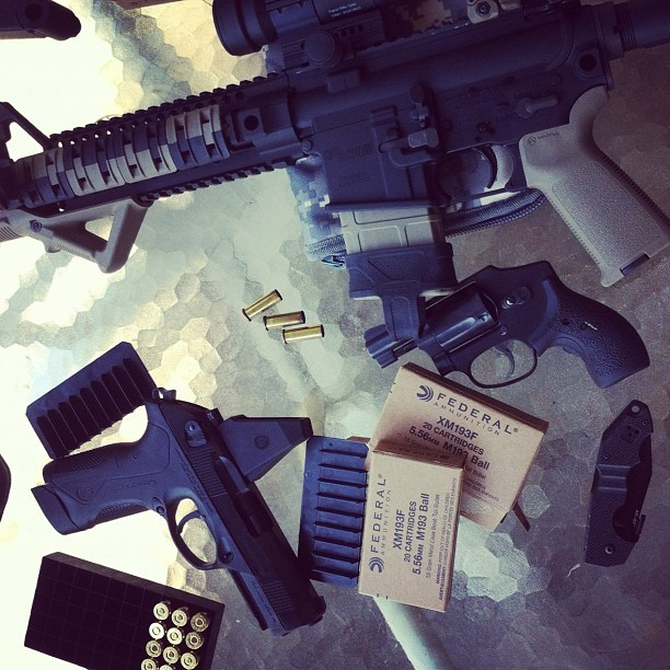 Impromptu range day at the farm. #guns #tactical #weapons #beretta #sig sauer #smith & Wesson (Taken with instagram)