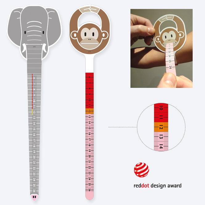 Trunky & Monkey by Philips Trunky and Monkey were specifically designed to appeal to children, creating something playful and non-medical looking to encourage the children to co-operate in having their arm circumference measured. They are intuitive to use, so can even be used by parents to quickly check their children at home. Lear more about the project here: Fight Malnutrition