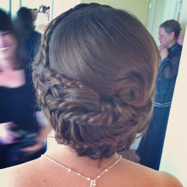 #bride #hair #wedding #fishtail #braids #madisonjane (Taken with instagram)