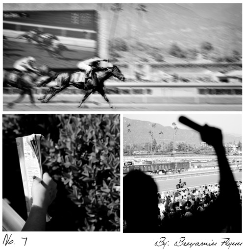 This collection of photographs taken at Santa Anita Racetrack has us excited for Opening Day - one month and counting! Image via: benflynnphotography