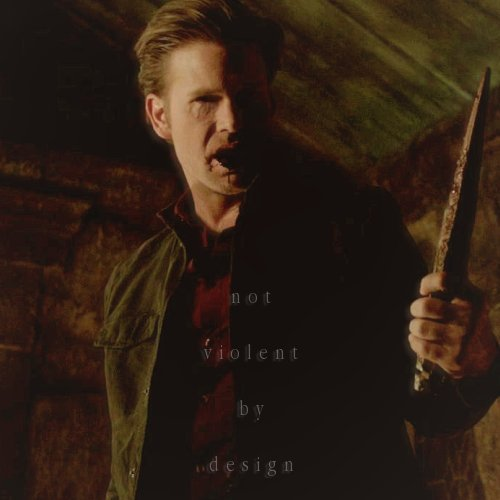 "ilosttrackofthings:   I'm not a violent guy by design.  Alaric Saltzman - 1x10 ""The Turning Point"""