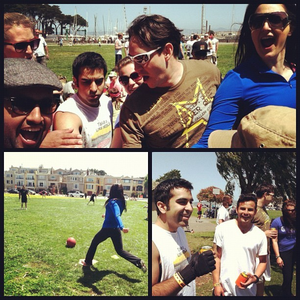 We got beat by a bunch of drunk Marina kids. Fml. #kickball (Taken with Instagram at Little Marina Green)