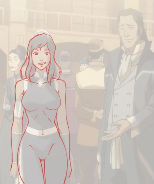 expensiveenglishlessons:  Redlines indicate Korra's hidden shape. Let me know if I'm not the first one to get this onto a blog, eh?    I think I've posted this before too, but it was first on 4chan or one of those chans. I'm not sure of the origin either.