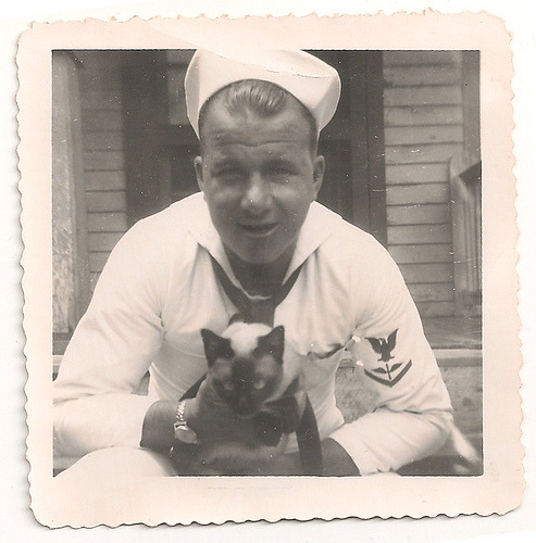 sailorjunkers:  Sailor and cat (by marilyn_cvitanic)