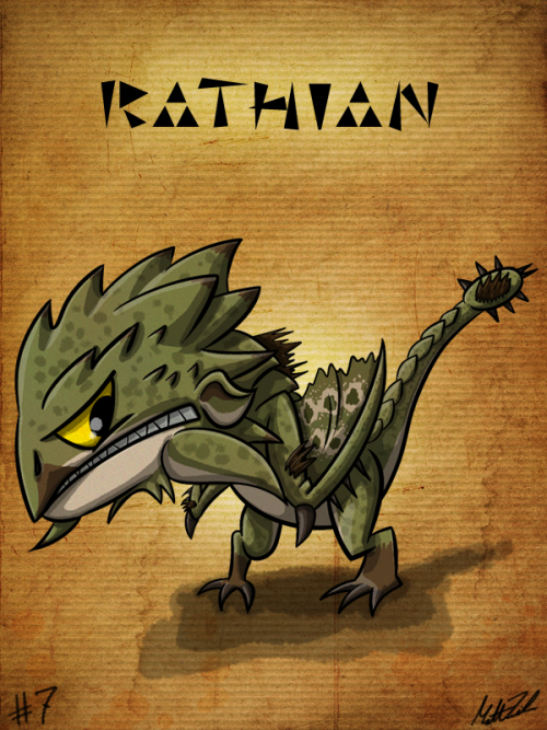 #7 - Rathian Monster Hunter Sketch Diary