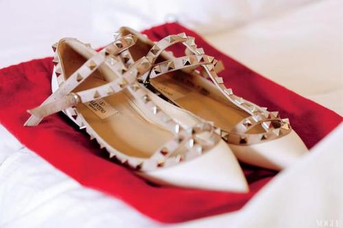 suchaprettyworld:  Caroline Trentini's Valentino shoes at her wedding.