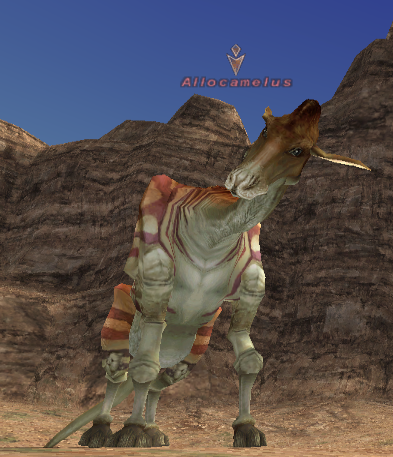 An Allocamelus in Final Fantasy XI.