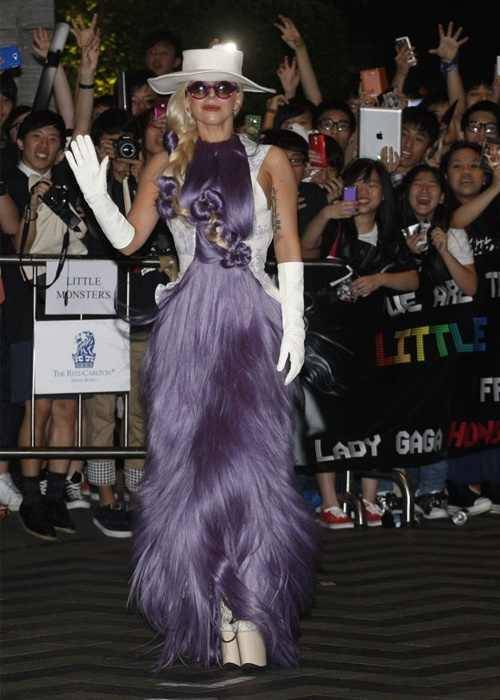 Lady gaga in Hong Kong