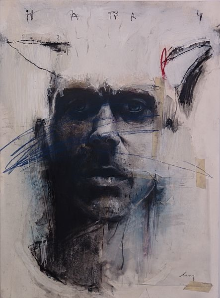 "Harry, 2007, Charcoal, pastel, acrylic on paper, 28 x 22 in [pictured above]. Painting is the primal impulse to mark. It's a visual record of the mind, the body, and the human spirit. For me there's an urgency to both create and destroy. Maybe it's out of sheer frustration that I work. Maybe it's just to satisfy a need to violate or to contradict. I'm not sure. There is a strong feeling though and I feel compelled to communicate this feeling.   Nuit #5  Concerning content and meaning in my art, I'm never quite sure. The work seems to be layered with different meanings. It primarily deals with vulnerability, fragility, and submission. It conjures up past images and emotions… feelings about the church, about nuns, relationships with my mother, with my wife, and other persons both male and female that all seem to play a part of each painting. And then there's the surface, the physical quality of the work that eludes to decay, to violation, and to vulnerability.   Liar, 2008, Mixed Media on Panel, 24 x 24 in. The surfaces of the paintings are like excavations, surfaces layered with a variety of materials… dry pigments, acrylics, tar, fabrics, oils, bonding agents, along with different clays dug from the Georgia soil. From these materials figurative images are unearthed. Their surfaces reveal the painting's history, its process, and provide actual depth, both physically through build up and layering as well as emotional depth with destructive scarring.  Figure #75, 2007, mixed media on canvas, 72 x 72 in. The works are an existential search for an abstract presence, an intuitive search into the unknown, a search for truth revealed through distortion and through exaggeration. I feel connected to the past, to a timeless tradition in art that has always been a primary concern of man…the expression of existence. It's innate. It's primal. It's been there since the beginning and I too have become part of this search for meaning and identity through the creative process of art making.   l07 dymphna Artist Bio Harry Paul Ally is recognized as one of the South's finest painters. He has been a professor of drawing and painting at Valdosta State University in Georgia for more than 20 years. Harry Paul Ally has exhibited extensively in individual, group, and juried exhibitions since the 1970's and has won numerous awards for his paintings across the nation. Harry Paul Ally utilizes a wide variety of materials - dry pigments, acrylics, tar, fabrics, oils, bonding agents, and different clays dug from the Georgia soil - ""From these materials the figurative images are unearthed,"" Ally states. ""There is a markedly primitive feel to Harry Paul Ally's work. Even with his raw figures, each canvas seems like a realistic moment in nature,"" comments gallery owner, Bill Lowe.     Harry Ally in his studio    Hary Ally's Website      Michael Accorsi is an artist, painter working from his studio in Northern California. He writes about art on his blog Plotlines Art Journal. Connect with Michael on Facebook and Twitter as well."