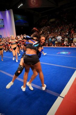 bow-to-the-teal:  lifeischeer:  cheerlife101:  winning in 2011  I'm reblogging this again. It's perfect  i want to know what this feels like …