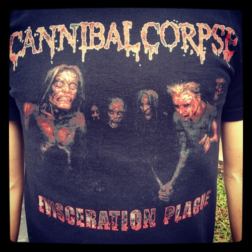 Day 22 - Cannibal Corpse, 2009 Australian Tour. #FullMetalMerch #CannibalCorpse #DeathMetal #Metal  (Taken with instagram)