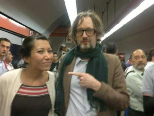 Jarvis Cocker in the metro Mexico City