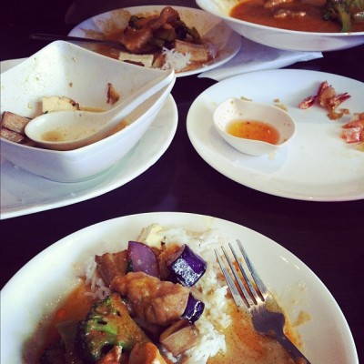 The best thai food #thai #yum #Davie #Vancouver  (Taken with instagram)