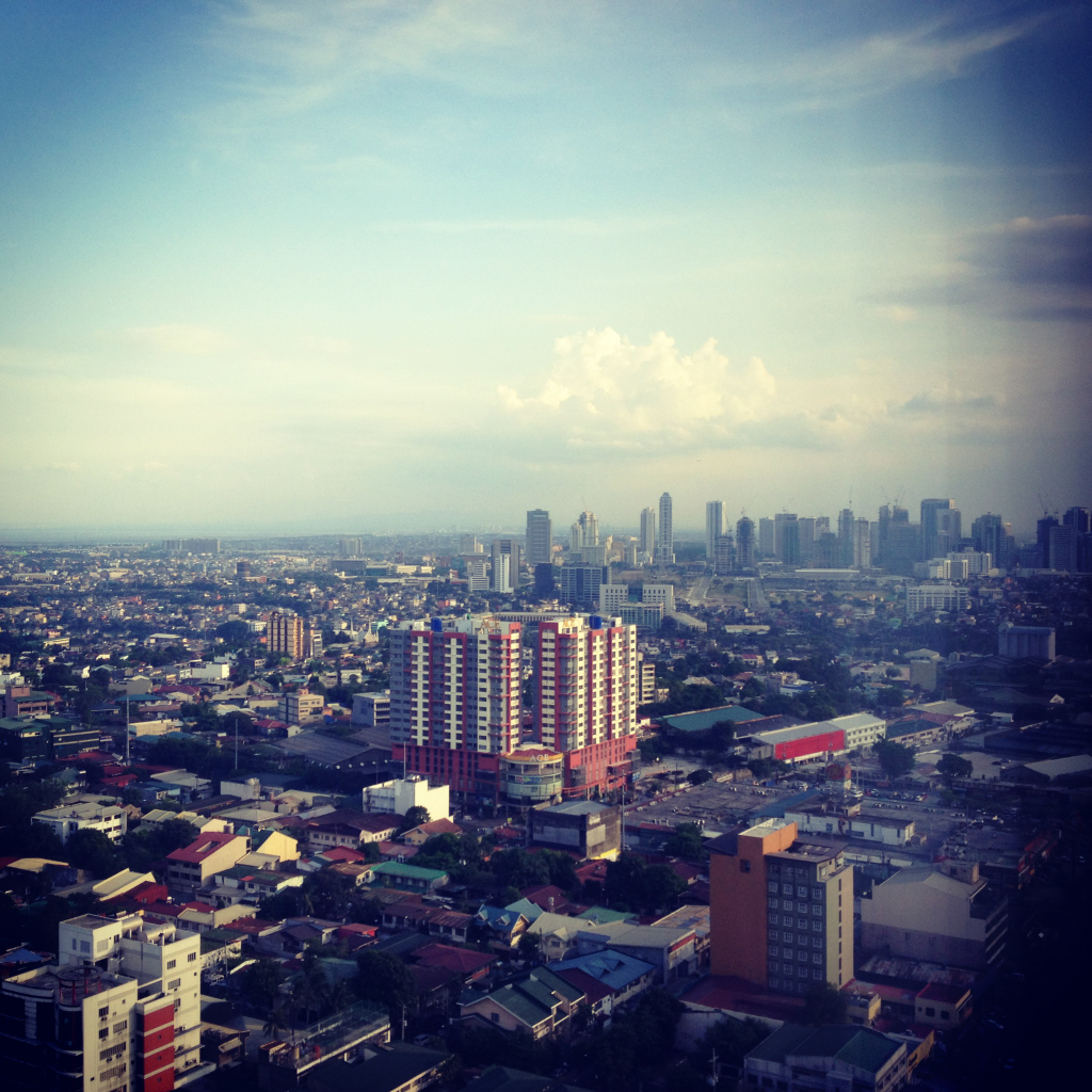 Pasig and Taguig skyline (upper right) :)