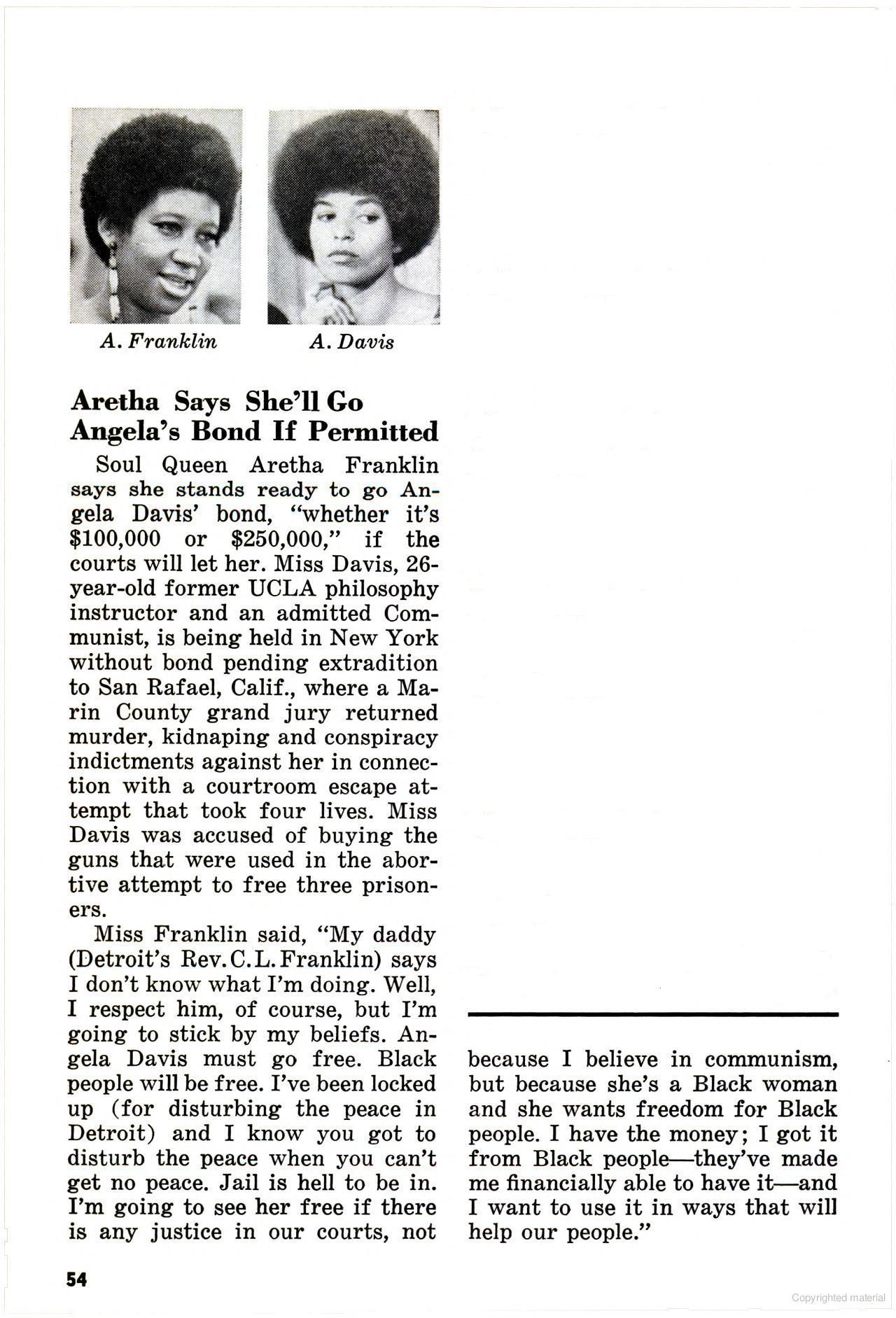 Yet another reason that I love Aretha Franklin.   Source: Jet Magazine (Dec 3, 1970)