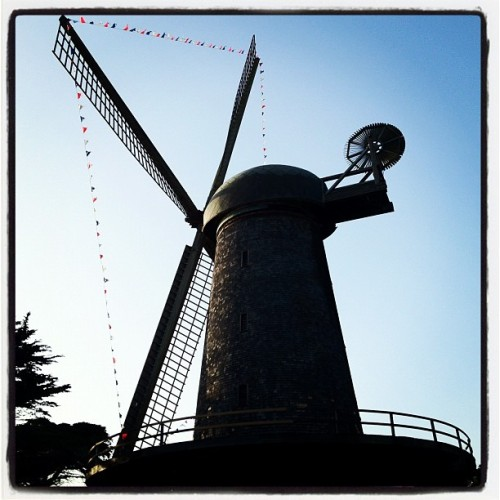two-windmill day! (Taken with Instagram at Queen Wilhelmina Tulip Garden)