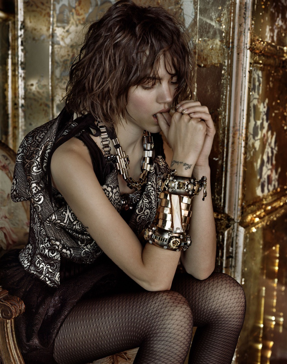 bohemea:  Freja Beha Erichsen: Enter the Dinner Dress - Vogue UK by Javier Vallhonrat, September 2009
