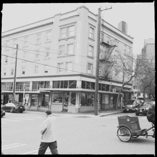 American Hotel, Seattle Lucas AB2 Lens, US1776 Film, No Flash, Taken with Hipstamatic#Hipstacode_ABUS © Kent Kangley 2012