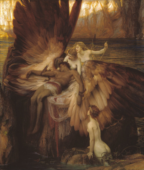atthefeetof:  THE LAMENT FOR ICARUS by Herbert James Draper
