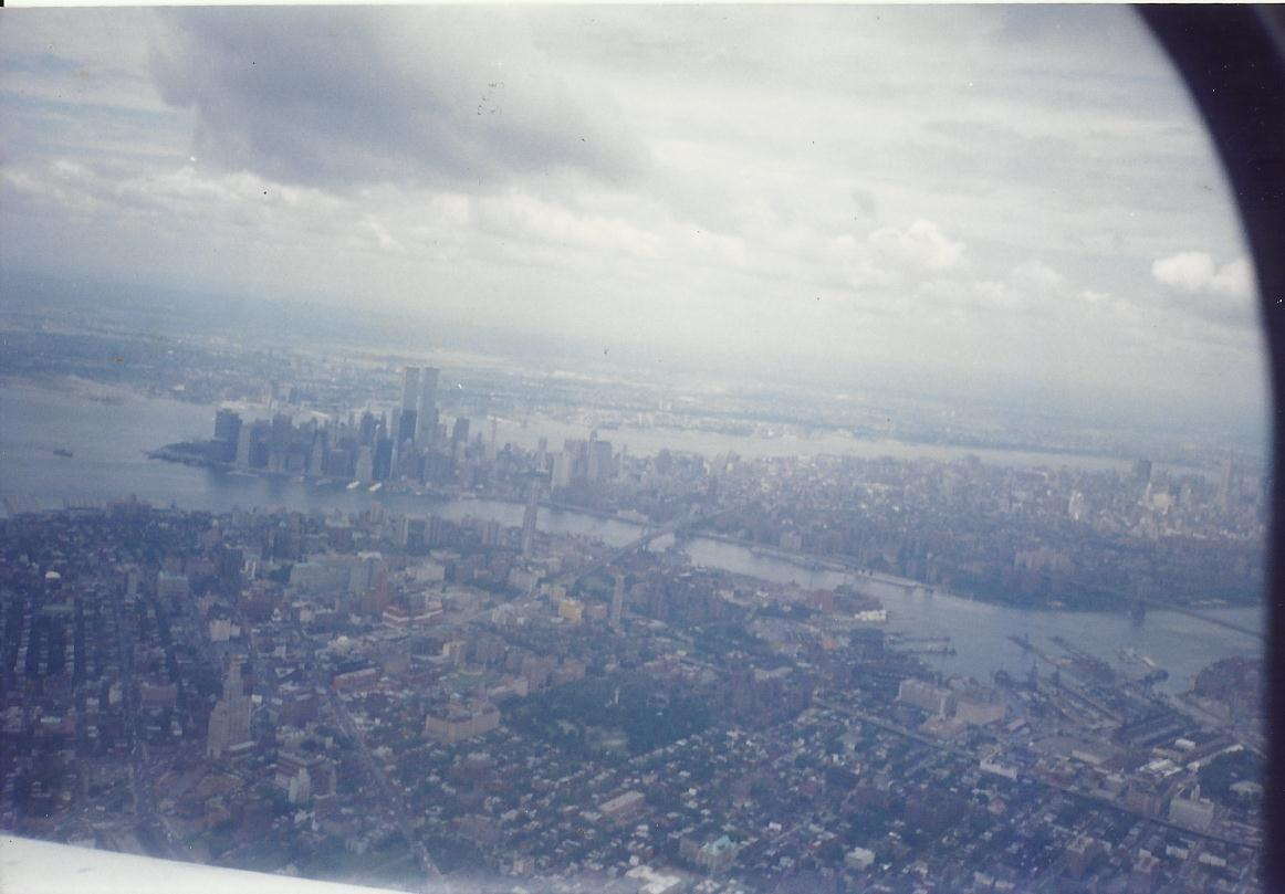 NYC from the airplane