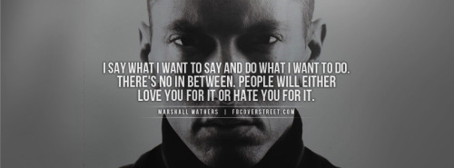 Eminem Say What You Want Facebook Cover