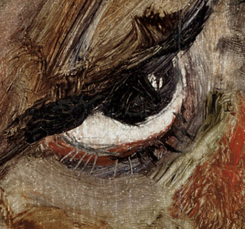 egonschiele:  artdetails: Self-Portrait with Lowered Head (detail)- 1912 by Egon Schiele