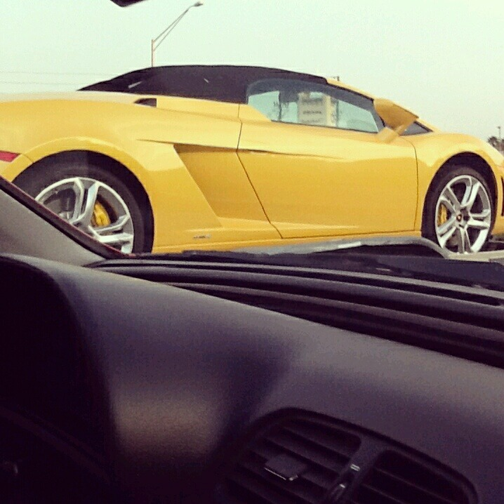 headed home from orlando && spotted this beautiful lambo