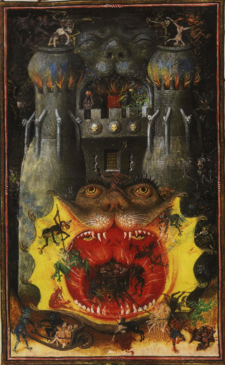 antitacta:  The Mouth of Hell, from the Book of Hours of Catherine of Cleves, circa 1440.