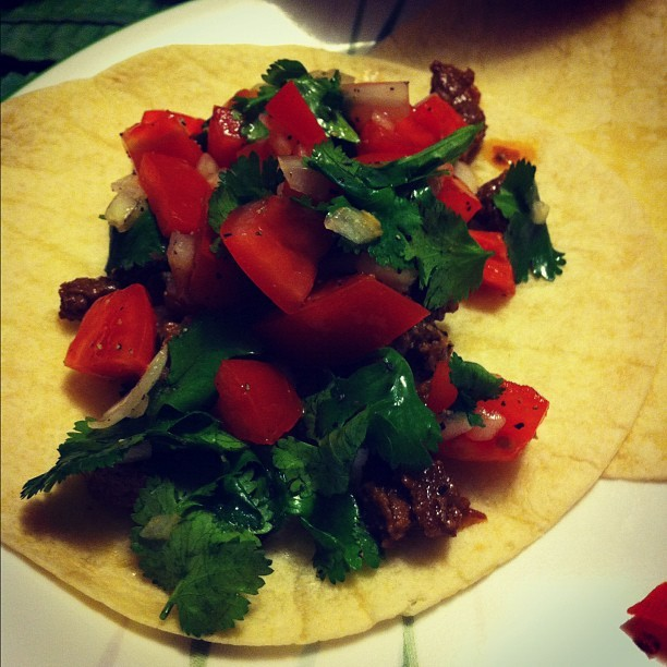 homemade tacos! soooo good! thanks mom ❤😊😏 (Taken with instagram)