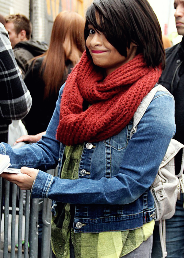 Raven Symone outside the Broadway Theatre in New York City