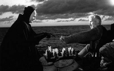 The Seventh Seal - 1957 - Ingmar Bergman A story of man and his search for meaning. A game of chess with death. Haunting.