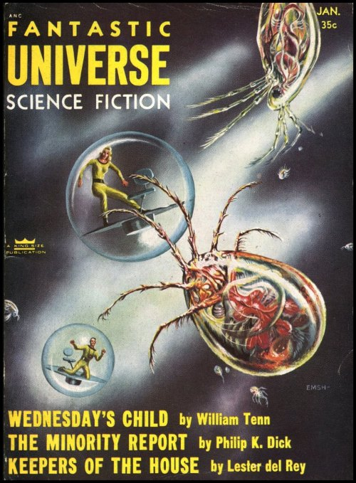 Fantastic Universe 1956. Cover art by Ed Emshwiller.