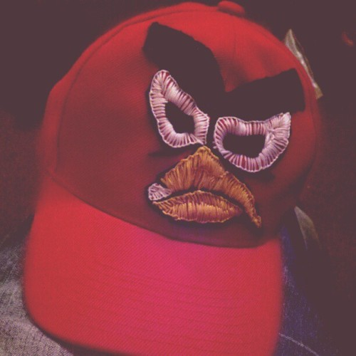 Cachucha de Angry Birds home made.  (Taken with instagram)