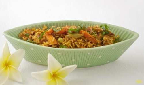 Biryani Biryani is one of the famous Indian dish that perhaps everyone has tried. A dish by itself with choice of vegetarian, with chicken or lamb. Sometime people like with prawns or lobster but is not common in India. The dhum biryani is one of my favorite, the taste is so subtle and smooth in your mouth with combination of the herb, spices, seasonings, rose water or pandan flower water (hyderabad) make this dish probably the best rice dish in the world.