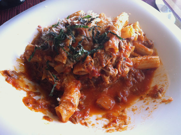 "Bucatini con Salsa di Agnello at DC Pasta Company in Strongsville, Ohio Tomato-braised Lamb and Mint This, as well as everything else we ordered, was fantastic. The Cozze con Salsicca (Mussels with Spicy Sausage) are a must-have. Overall, I couldn't agree more with the Cleveland Scene review (""Pasta Perfect"") for this place."