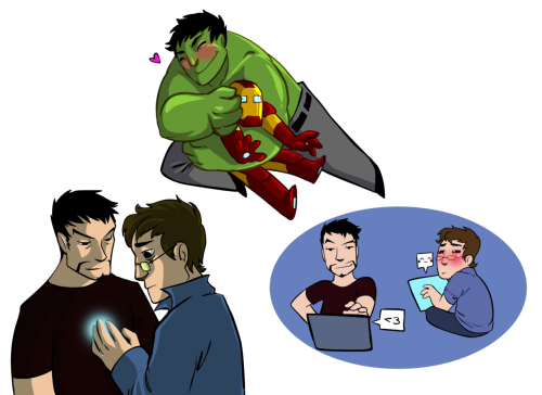 fyeahsciencebros:  Geeks in love by *PolymorphicGirl