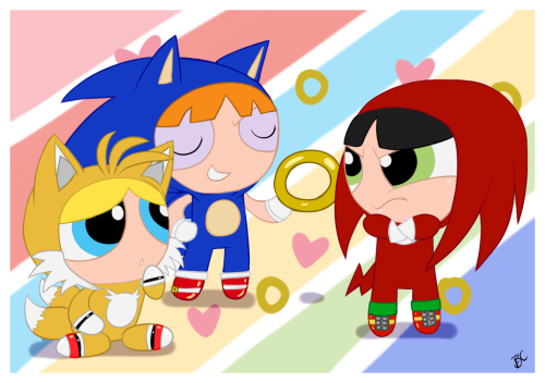 *Credit: Blue-Chica Reblog if you like the Powerpuff Girls or Sonic the Hedgehog!