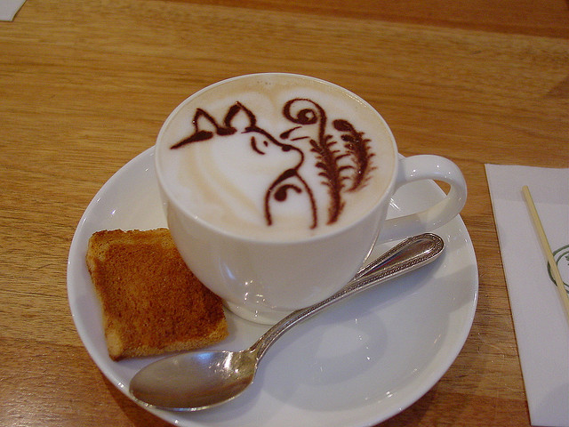Totoro Cappuccino (by WilsonB)  I will literally die if I don't get to go to the Ghibli Museum in Tokyo while I'm in Asia.