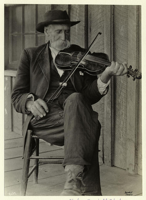 A mountain fiddler. by New York Public Library on Flickr.Look at the photo. Consider what has has just happened here, or what is about to happen here. Who has been here? Who will come here and and what will they do? What kinds of interactions can you imagine? Write one leaf about these or other things that occur to you upon looking at the picture. Do not allow yourself to be limited by what you see. Go.| Write One Leaf + about + ask + random + facebook + twitter | sponsors + You Are a Dog [ Kindle | Google | iBookstore ]