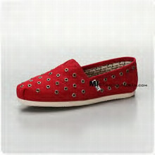 Tom shoes, red.